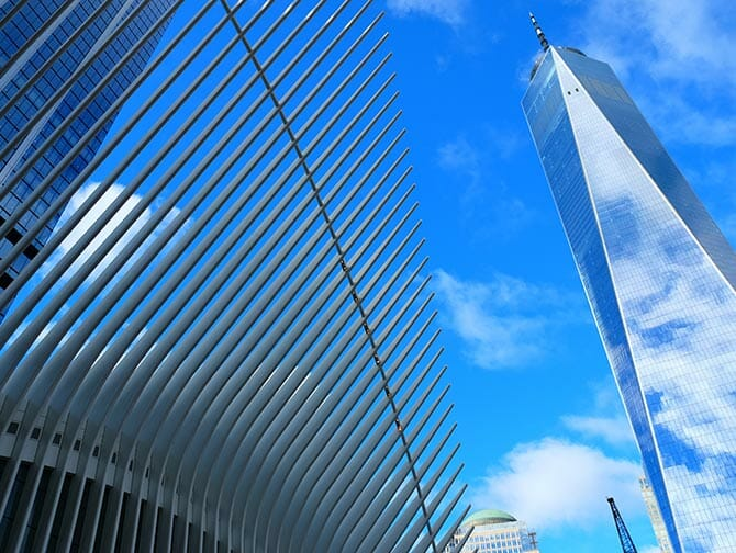 Lower Manhattan in NYC-One World Trade Center