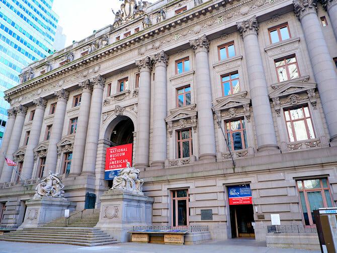 Lower Manhattan a NYC-Museo degli Indiani Americani