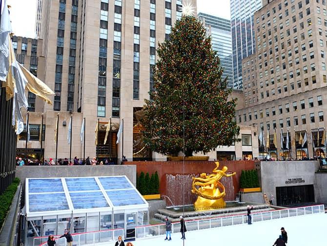 Pattinare a New York - Pista Rockefeller