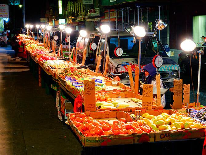 Chinatown in New York Mercato