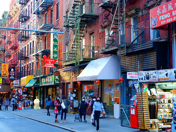 Chinatown a New York Negozi