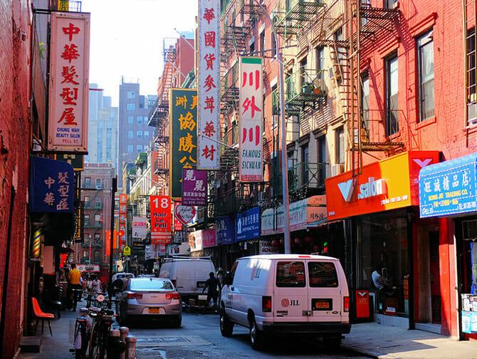 Chinatown a New York Tipico Edificio
