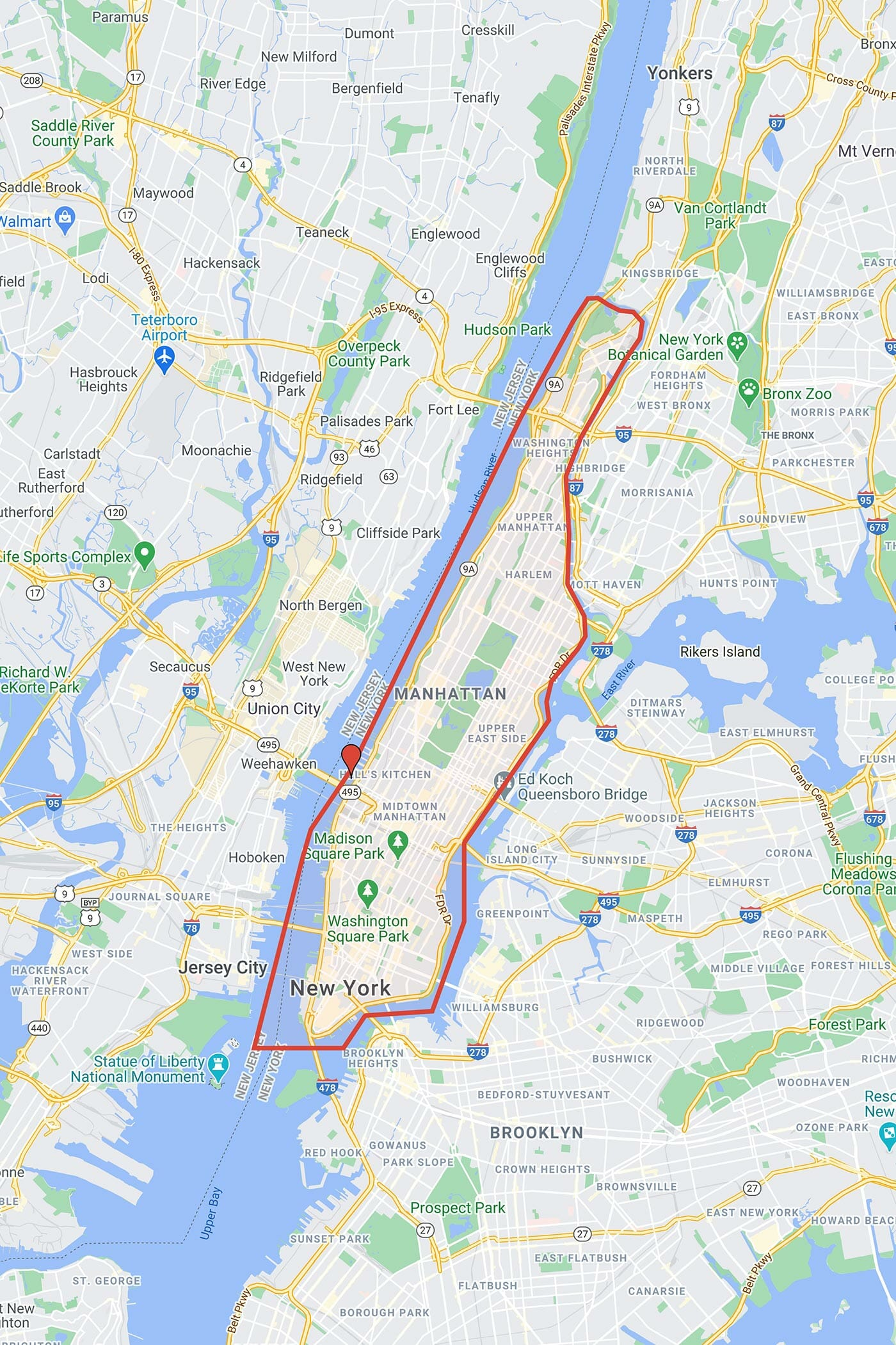 Circle Line Crociera Best of NYC - Itinerario