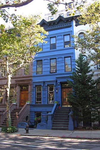 Upper West Side a New York Casa blu