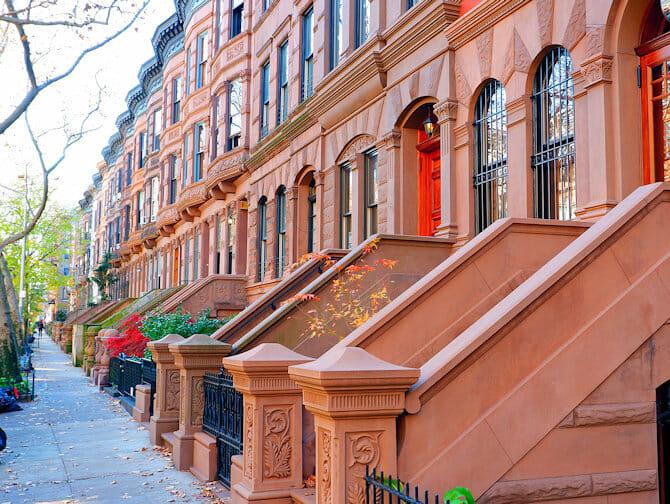 Upper West Side a New York Pomeriggio di sole