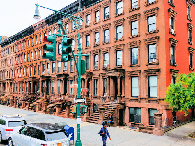 Harlem a New York - Case in brownstone