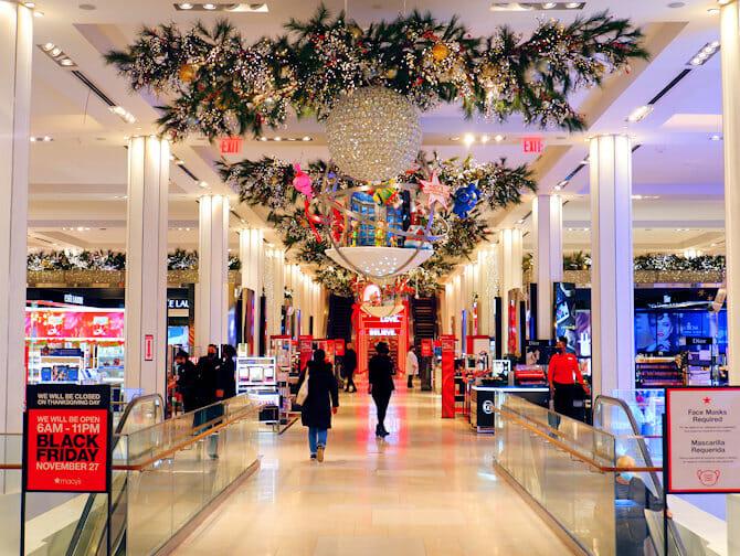 Macy's in New York decorazioni di Natale