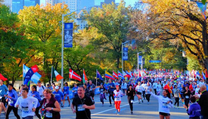 Maratona di New York- Corridori in Central Park
