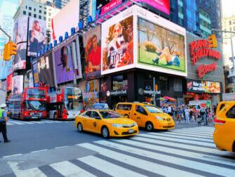 Taxi nell'ora di punta a New York