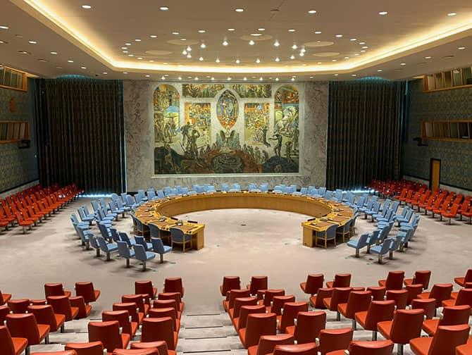 L'Organizzazione delle Nazioni Unite a New York - Sala del Consiglio di sicurezza