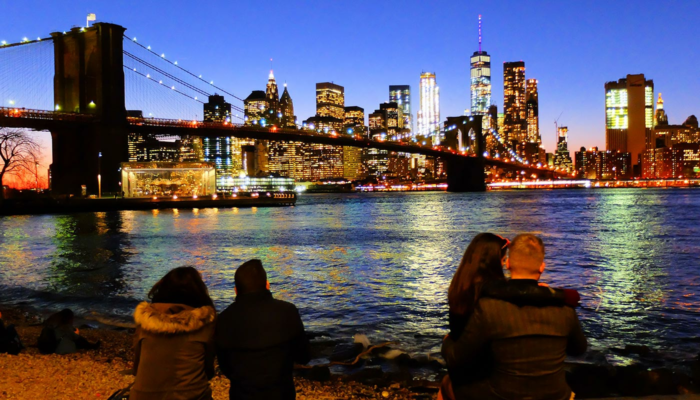 Brooklyn Bridge a New York - Skyline