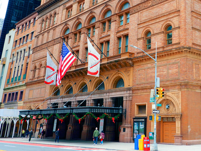 Carnegie Hall a New York