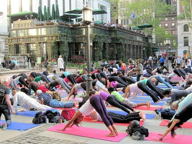 Yoga gratuito in Bryant Park