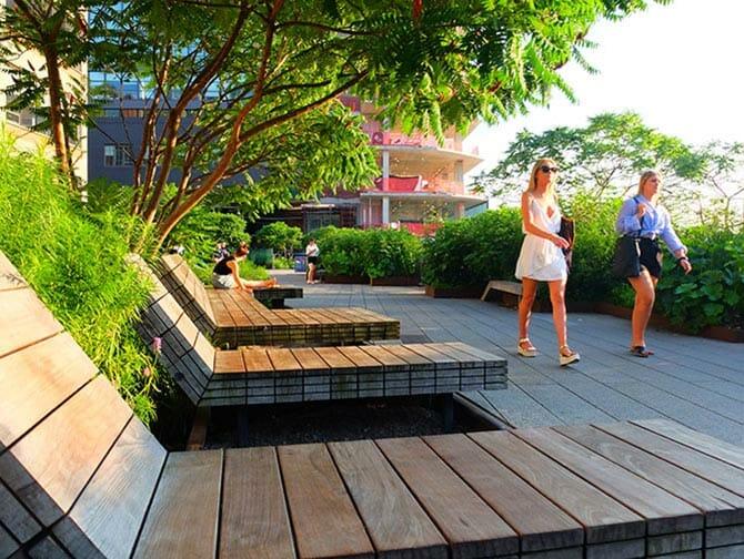 High Line Park a New York - Sedie a sdraio