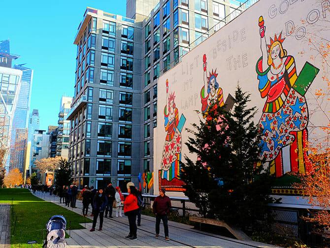 High Line Park a New York - Murales