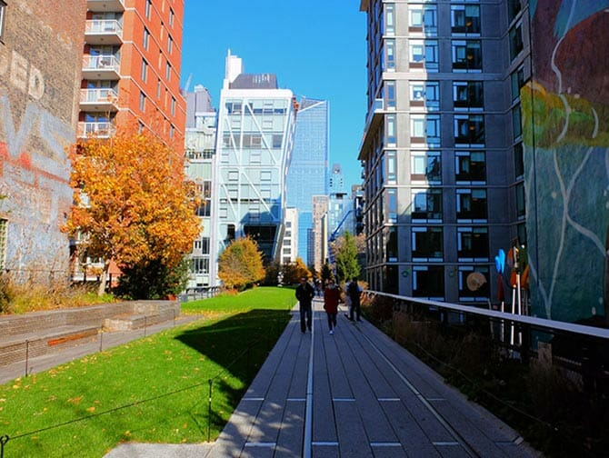 High Line Park a New York - In mezzo agli edifici