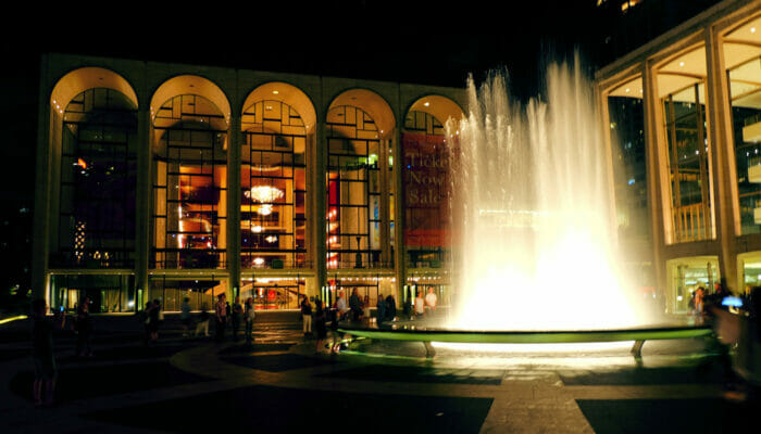 Lincoln Center a New York - Lincoln Center di sera