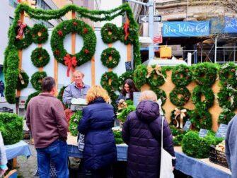 Mercati di New York - Ghirlanda di Natale a Union Square
