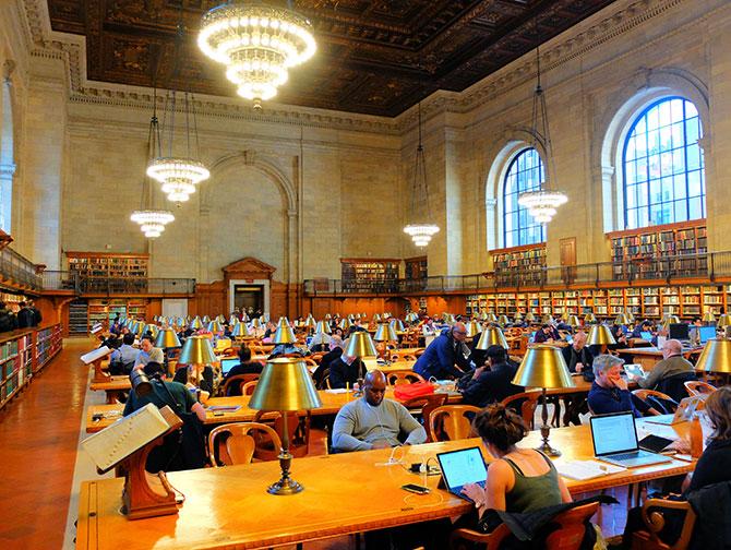 New York Public Library - Sala lettura