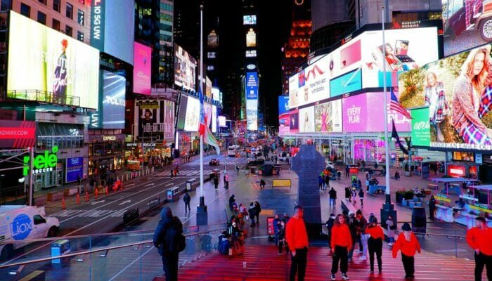 Theater District a New York - Times Square