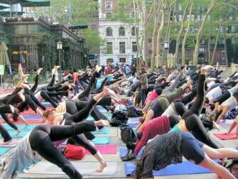 Yoga in Bryant Park New York