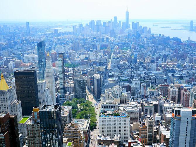 Biglietti Empire State Building - Vista Downtown Manhattan
