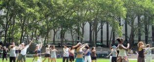 Lezioni di danza in Bryant Park