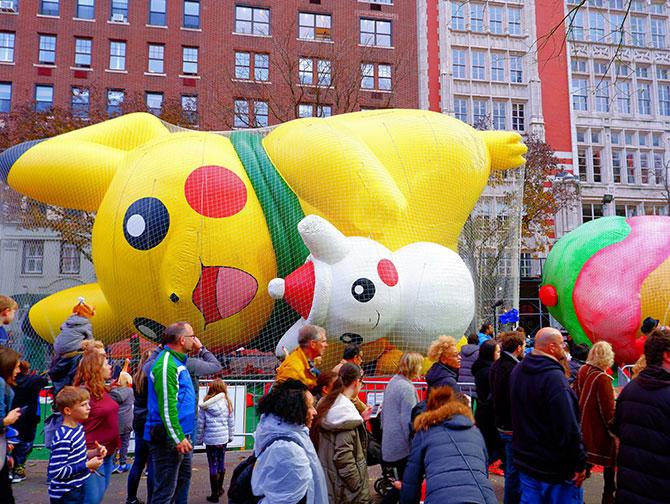 Parata Giorno del Ringraziamento di Macy's - Gonfiatura dei palloni
