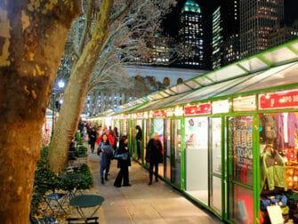 Mercati di New York - Addobbi di Bryant Park
