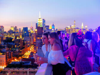 I migliori rooftop bar di New York - The Roof tramonto
