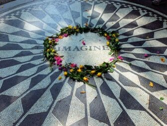 strawberry fields in the morning in central park