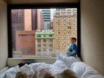 Vista da una camera del citizenM Times Square hotel