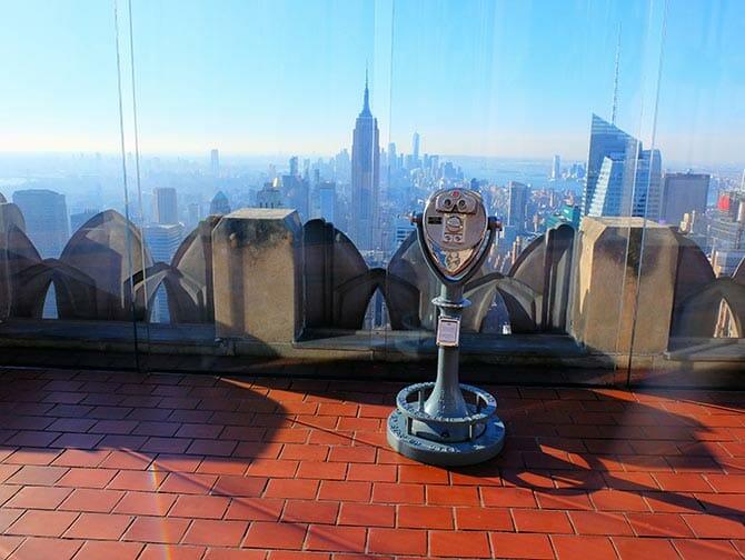 Giorno di Capodanno a New York - Top of the Rock al tramonto