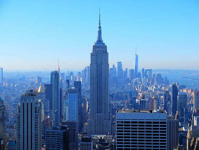 Giorno di Capodanno a New York - Veduta dal Top of the Rock