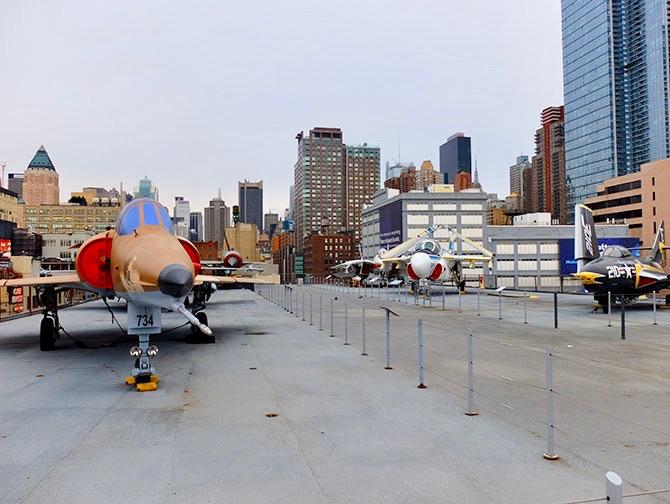 Intrepid Sea, Air and Space Museum a New York - Il ponte