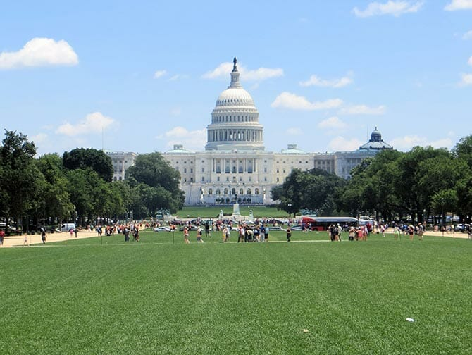 Washington DC in bus da New York Capitol