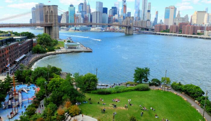 Brooklyn Bridge Park a New York - Dall'alto
