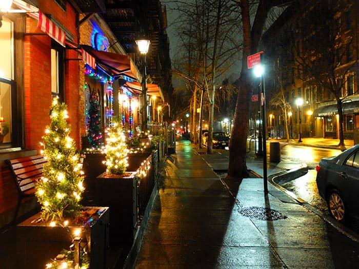 Hells Kitchen a New York - di sera