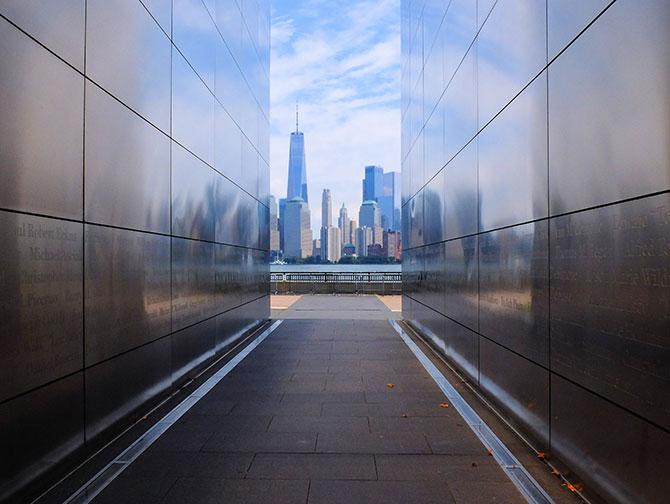 Empty Sky Memorial nel New Jersey - Vista skyline
