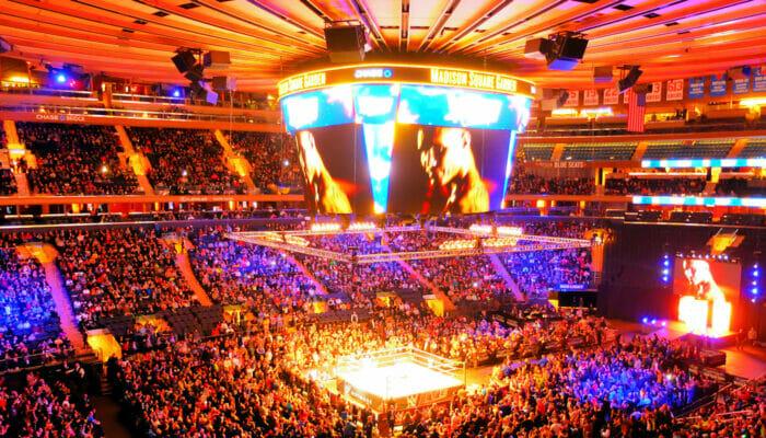 Madison Square Garden in NYC - Dall'interno
