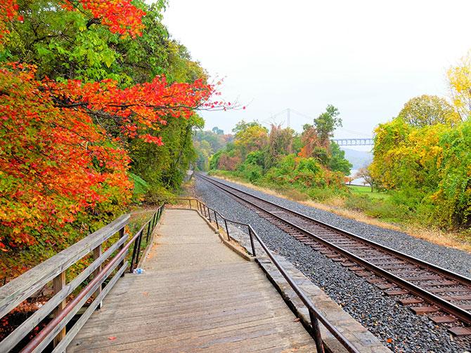 Escursione a Bear Mountain a New York - Binari del treno