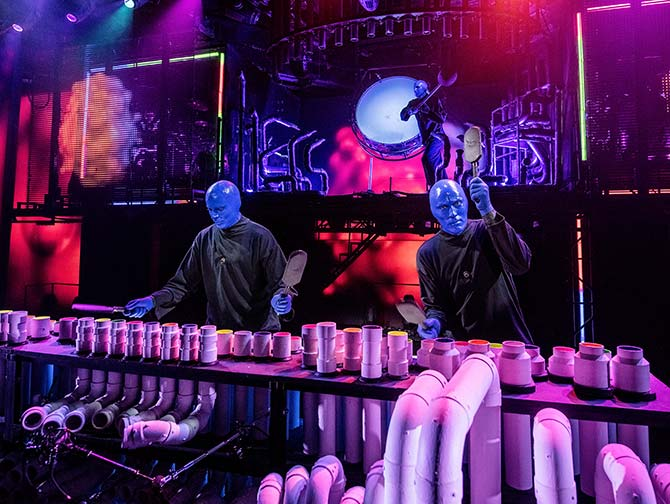 Biglietti per Blue Man Group a New York - Sul palco