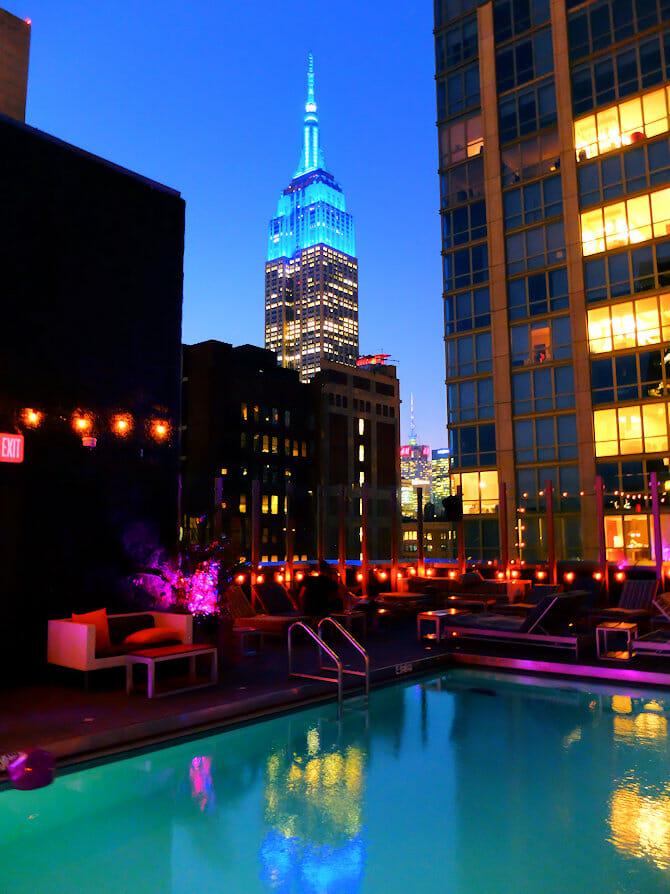 Nuotare a New York - Royalton Hotel