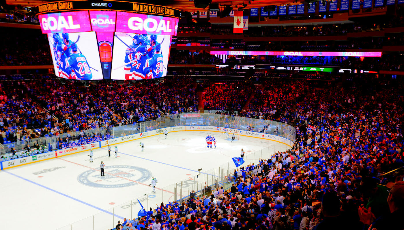 NHL hockey su ghiaccio a New York
