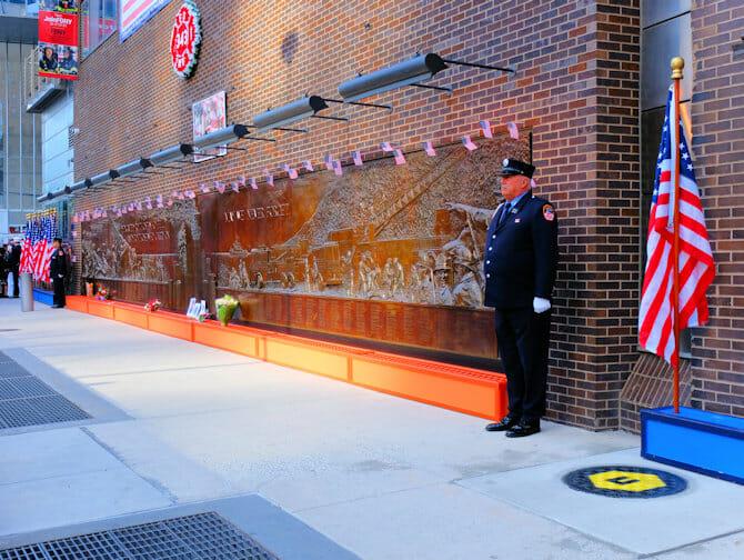 9/11 a New York - Muro commemorativo