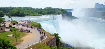 Cascate del Niagara in aereo