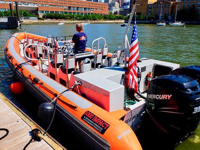 Giro in barca ad alta velocità a New York - Gommone RIB