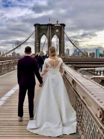 Fotografo di matrimoni a New York - Brooklyn Bridge