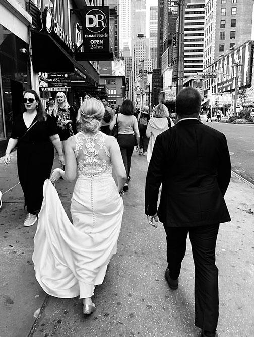 Fotografo di matrimoni a New York - Foto per strada