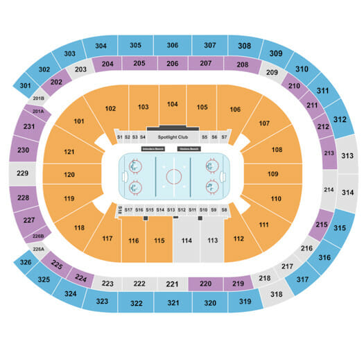 Biglietti per New York Islanders - Mappa dei posti a sedere